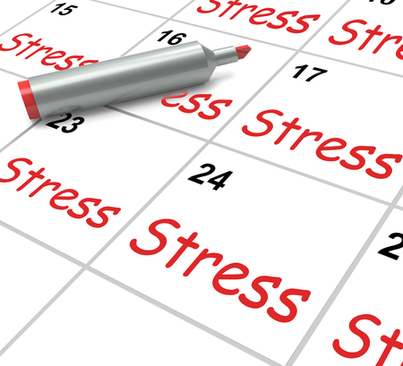 pressured: Stress Calendar Meaning Pressured Tense And Anxious Stock Photo