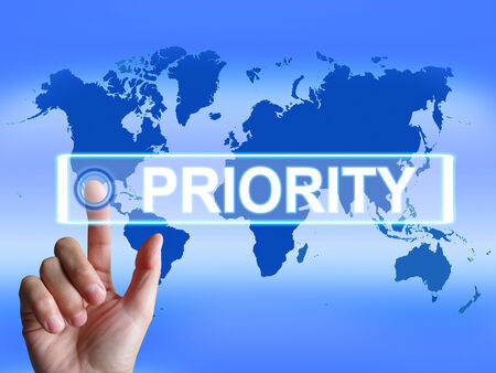 precedence: Priority Map Showing Superiority or Preference in Importance Worldwide