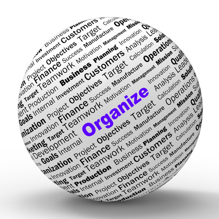 structured: Organizar Esfera Definici�n Muestra Estructurada Archivos organizados o Gesti�n Foto de archivo