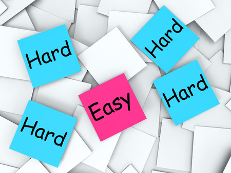 Easy Hard Notes Meaning Effortless Or Challenging photo