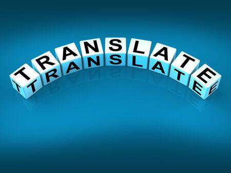 Translate Blocks Showing Multilingual or International Translator