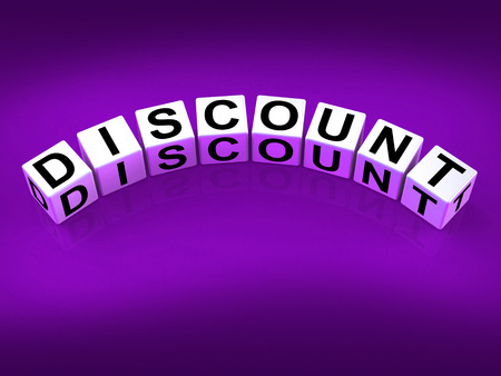 decreased: Discount Blocks Showing Discounts Reductions and Percent Off