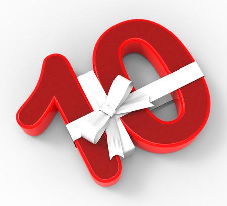 numero diez: Number Ten Con La Cinta Significado Birthday Presents d�cima o partido