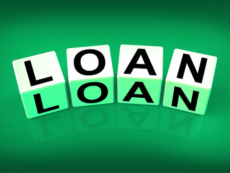 Loan Blocks Meaning Funding Lending or Loaning Stock Photo - 27900078