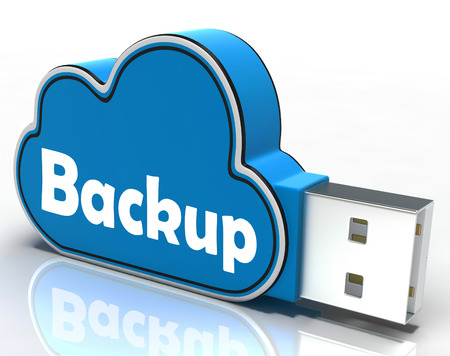 archiving: Backup Cloud Pen drive Meaning Data Storage Archiving Or Safe Copy Stock Photo