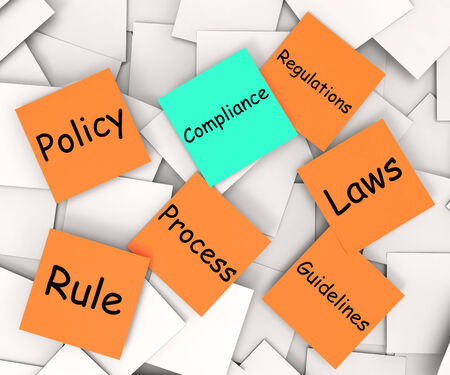 complied: Compliance Note Showing Following Rules And Regulations