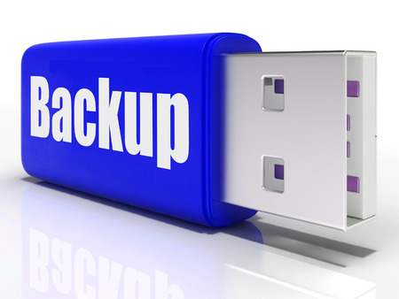 archiving: Backup Pen drive Showing Storage Organization File Transfer Or Data Archiving