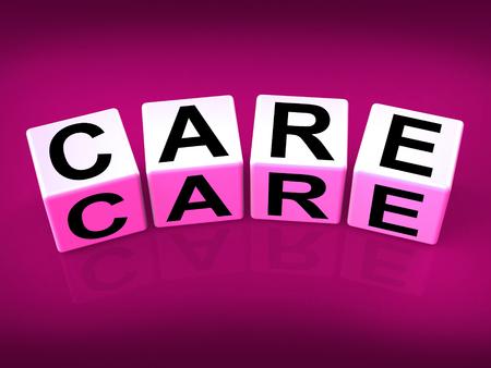 preocupacion: Blocks Cuidados mostrar preocupaci�n y el cuidado de