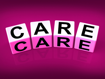 Care Blocks Showing Concern And Caring For