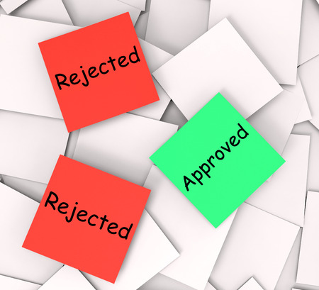 unsatisfactory: Approved Rejected Notes Showing Passed Or Denied
