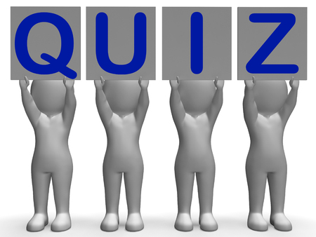 Quiz Banners Meaning Quiz Games Questions Or Exams photo
