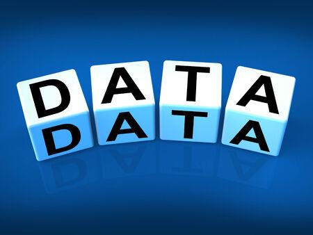 dataflow: Bloques de datos Significado Tecnolog�as de Informaci�n y Base de Datos Foto de archivo