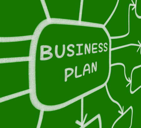 Business Plan Diagram Meaning Company Organization And Strategy photo