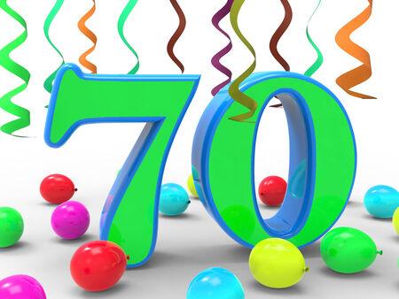 seventy: Numero Settanta Partito Significato Surprise festa di compleanno o un evento speciale Archivio Fotografico