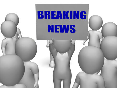 newscast: Breaking News Board Character Meaning Latest Announcements And Bulletin