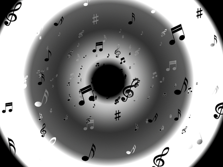 melodies: Musical Notes Background Showing Abstract Art And Melodies
