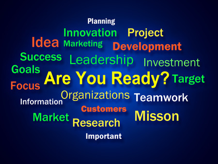 Are You Ready Brainstorm Showing Prepared For Business photo