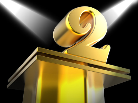 Golden Two On Pedestal Meaning Recognition And Success
