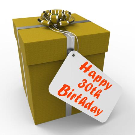 cadeau anniversaire: Cadeau Joyeux anniversaire 30 Affichage Age Trente