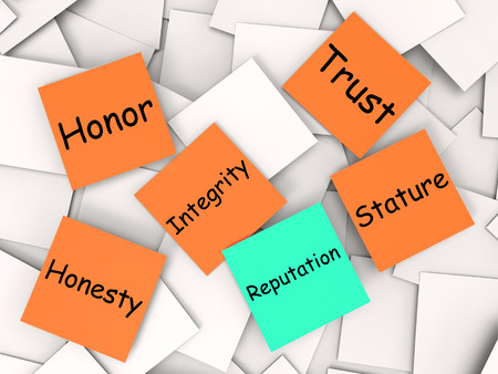 reputed: Reputation Note Meaning Integrity Honesty And Credibility