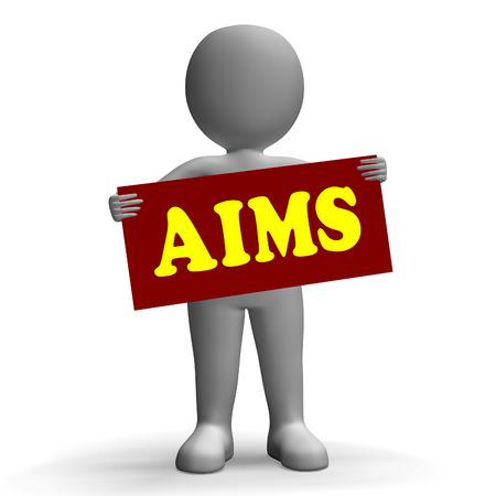 Aims Sign Character Meaning Aspiration Ambition And Goals