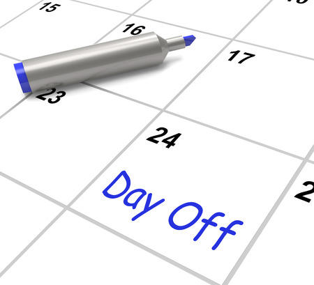 Day Off Calendar Meaning Work Leave And Holiday