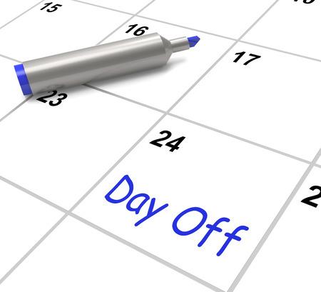 Day Off Calendario Significado Dejar trabajo y de vacaciones Foto de archivo