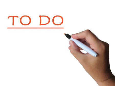 To Do Word Showing Aims Tasks And Get Done