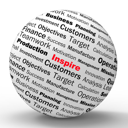 sphere of influence: Inspire Sphere Definition Meaning Motivation Encouragement And Positivity Stock Photo
