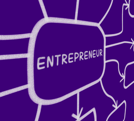 entrepreneurial: Entrepreneur Diagram Showing Business Person And Start-Up