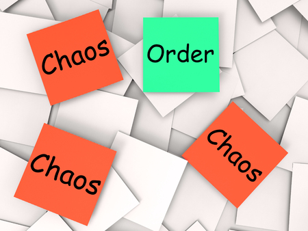 Order Chaos Notes Meaning Orderly Or Chaotic photo