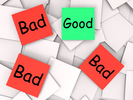 dreadful: Good Bad Notes Showing Excellent Or Dreadful