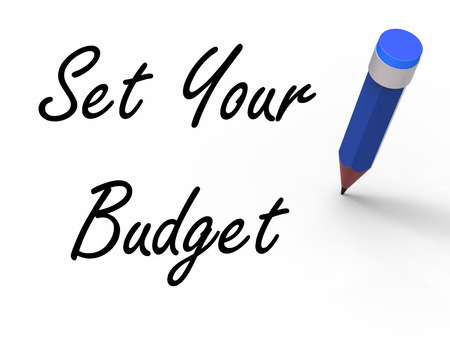 budgets: Set Your Budget with Pencil Meaning Writing Financial Goals