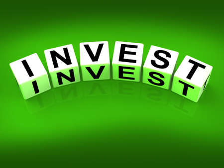 Invest Blocks Referring to Investing Loaning or Endowing Stock Photo - 27896407