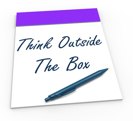 Think Outside The Box Notepad Meaning Unique Thoughts