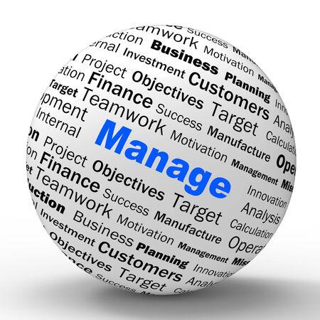 economia aziendale: Gestisci Sfera Definizione Significato Amministrazione Or Business Development Archivio Fotografico