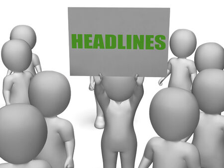 Headlines Board Character Showing Last Minute News Or Newspaper Publications photo