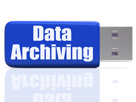 archiving: Data Archiving Pen drive Showing Files Organization Storing And Transfer Stock Photo