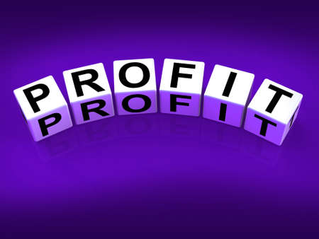 lucrative: Profit Blocks Showing Success in Trading and Earnings
