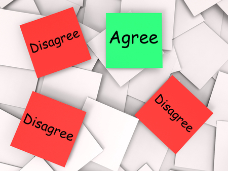 disagreed: Agree Disagree Notes Meaning For Or Against