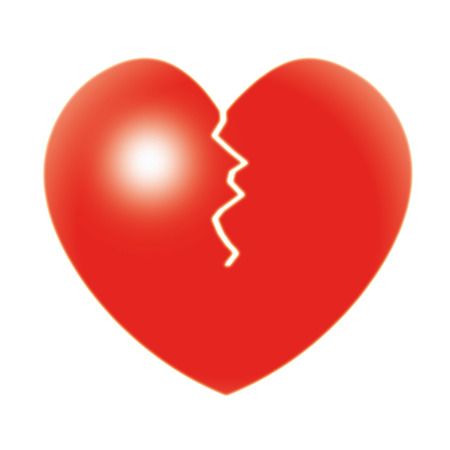 heart problems: Broken Heart Showing Relationship Troubles And Separation Stock Photo