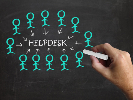 Helpdesk On Blackboard Meaning Customer Support Help And Assistance