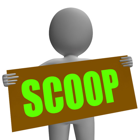 tatter: Scoop Sign Character Meaning Gossipmonger Or Intimate Tatter Stock Photo