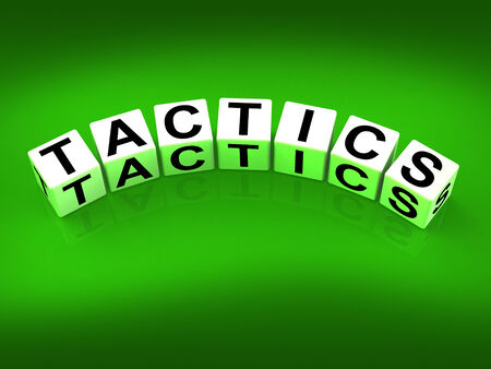 Tactics Blocks Showing Strategy Approach and Technique Stock Photo - 27900577