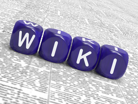 wiki: Wiki Dice Showing Learning Knowledge And Encyclopaedia