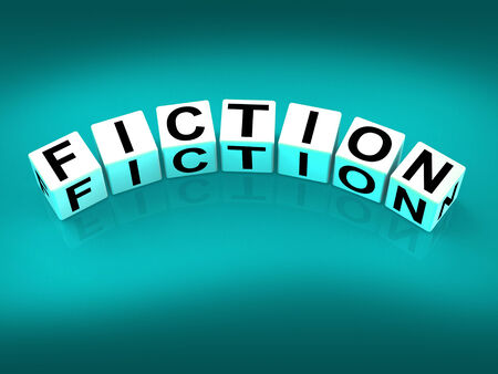novel: Fiction Blocks Showing Fictional Tale Narrative or Novel