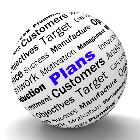planned: Plans Sphere Definition Showing Customers Target Arrangement Or Aim