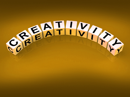 inventiveness: Creativity Dice Meaning Inventiveness Inspiration And Ideas