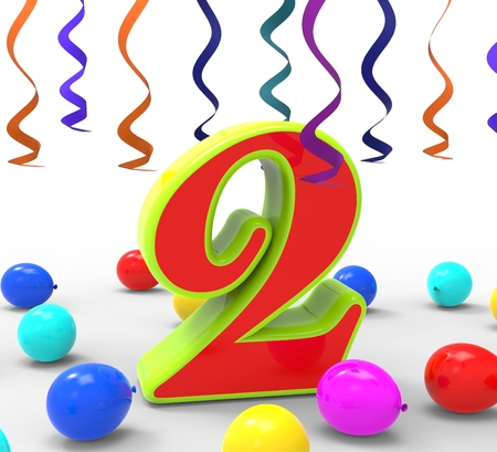 Number Two Party Showing Birthday Celebration Or Party photo