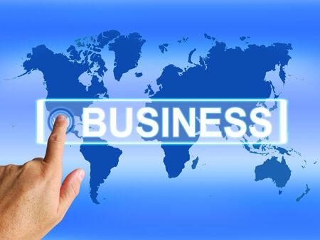 Business Map Representing Worldwide Commerce or Internet Company Stock Photo